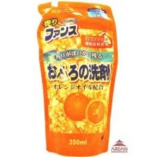 409191 ФАНСУ моющее средство для ванных комнат с апельсиновым маслом, объем 0,35 л