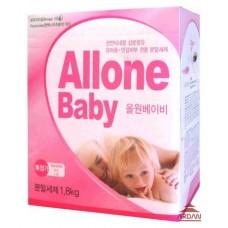 040228 ALLONE Концентрированный стиральный порошок для детского белья, объем 1,8 кг