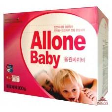 040075 ALLONE Концентрированный синтетический стиральный порошок для детского белья, вес 900 гр.