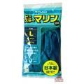 077466_TOWA Тонкие виниловые перчатки без покрытия внутри, размер L