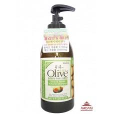 073834 OLIVE Увлажняющий и восстанавливающий шампунь для волос с экстрактом оливы и хны , объем 0,75 л