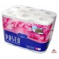 211054_PASEO ELEGANT трехслойная туалетная бумага (12 рулонов)